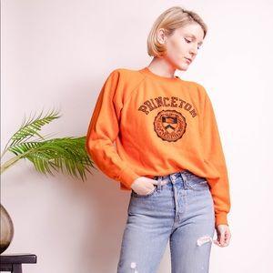Vintage 80s orange Princeton University crewneck